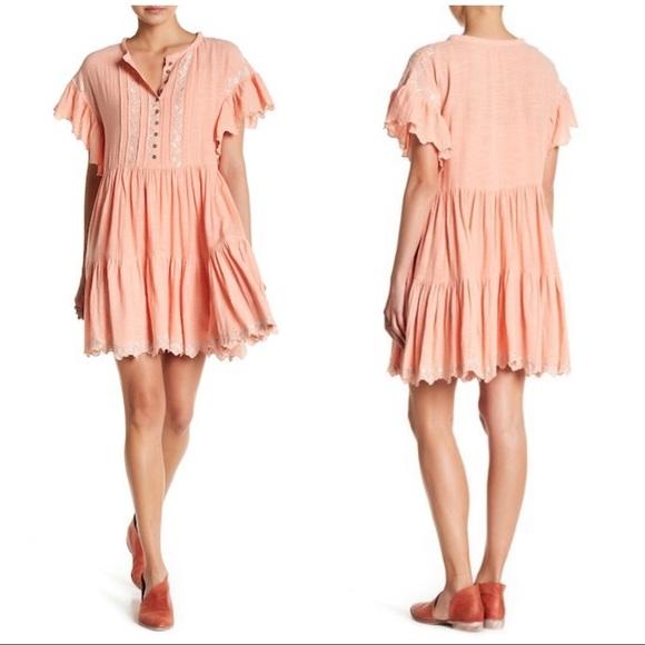 Free People Dresses & Skirts - NWT Free People Santiago babydoll dress S mauve